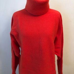 Banana Republic XS orange turtleneck sweater